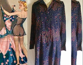 Vintage shirt dress size m-L