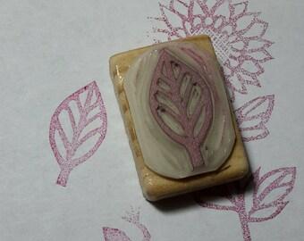 """stamp """"leaf"""" hand engraved"""