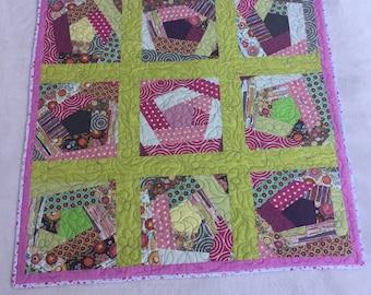 Crazy Logcabin patchwork