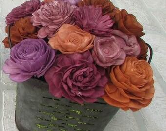 Shades of Autumn Sola Wood Flower Arrangement