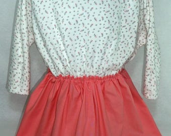 Dress girl apricot effect Trompe L'Oeil.