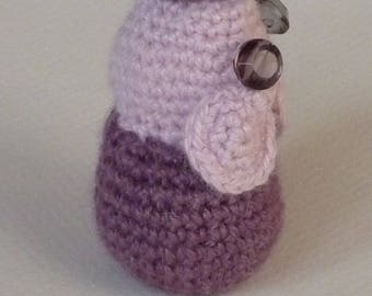 Pink and purple piggy with bright eyes