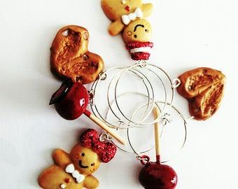 Set of 6 glass jewellery