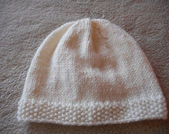 Hat knitted baby wool (choice of color)