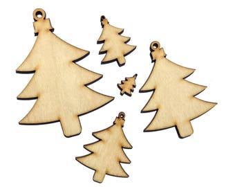 Wooden Christmas Tree 3 Plywood Scrapbooking Embellishment Wedding Decor Gift