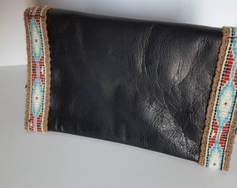 Leather tobacco pouch.