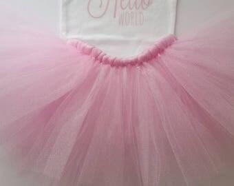 Girl Tutu Outfit |  Pink Tutu Set