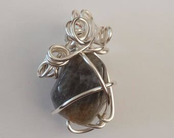 Pendant, pandatief, wire wrapping
