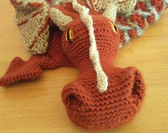 Burnt Orange Dragon Scarf
