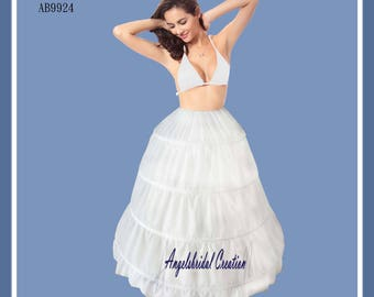 Petticoat, crinoline for wedding, bridal, party and ritual (4 hoops)