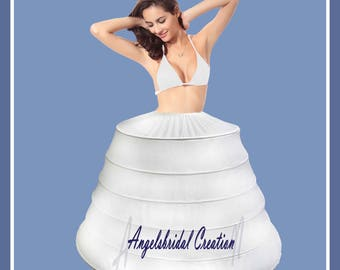 Petticoat, crinoline for wedding, bridal, party and ritual (6 hoops)