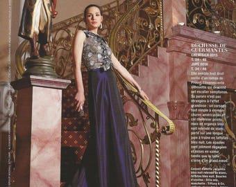 Pattern by long skirt with asymmetrical hem