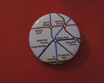 BADGE 2.5 CM LONDON UNDERGROUND SUBWAY