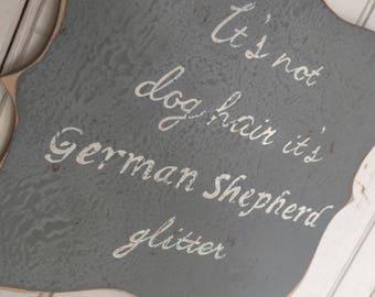 German Shepherd Glitter Plaque