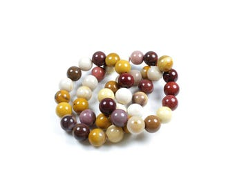 10 LBP00481 8mm natural Mookaite Jasper beads
