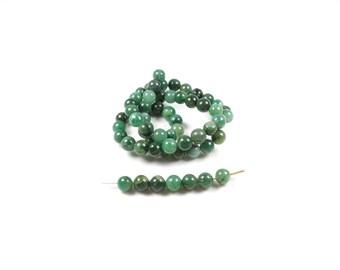 10 African jade beads 6mm LBP00461 natural