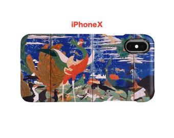 "iPhone case  ""Ito Jakuchu :Birds, Animals and Flowering Plants (Wide Left Side)""  iPhone5/5s/SE/6/6s/6Plus/6sPlus/7/7Plus/8/8Plus/X"