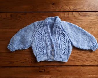 Blue baby girl's cardigan