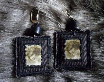 Charleston 4 woman portrait earrings