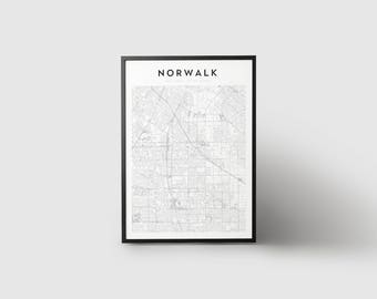 Norwalk Map Print