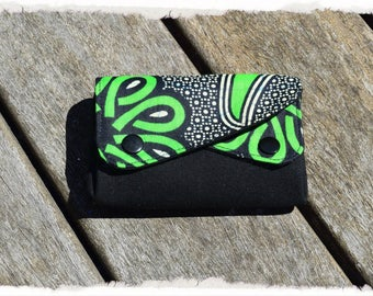 "Wallet with gussets wax ""tropical"""