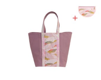 Glitter MM - Japanese tote bag / purple