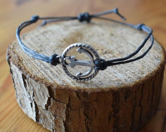 Homemade bracelet with anchor