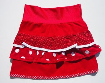 * SKIRT RED LOLITA GIRL *.