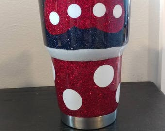 Minnie Mouse Glitter Tumbler