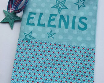 Protects health book personalized with stars and a name with fabrics to choose