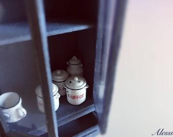 3miniature Vintage coffee/tea/milk cup