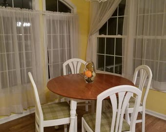 Farmhouse table with 4 chairs