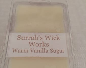 Warm Vanilla Sugar Scented Soy Wax Melt