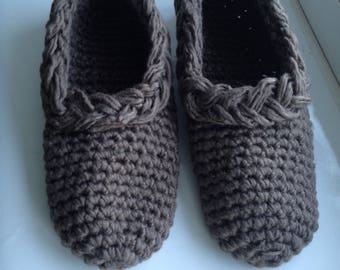 Cozy knitted slippers for home