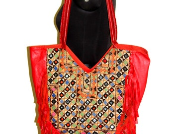 Antique Vintage Handmade Gypsy Banjara Suede Leather Shoulder Bag Vintage Tribal Banjara Bag Beatiful Christmas Gift for your LoverTote Bags