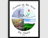 Tax Season Accounting Art, Tax Accountant Decor, Accountant Gifts, CPA Gifts, Accounting Office Decor, Accounting Humor, Accountant Poster