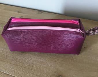Kit double faux leather
