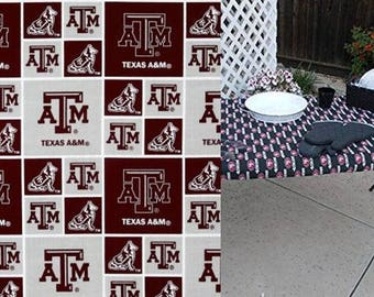 Custom Fitted, Reusable, Stay Put Texas A&M Reusable Table Cover. Great for Tailgating or BBQ's