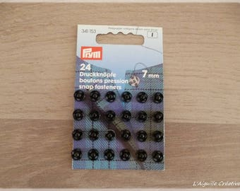 Card 7 mm black snap