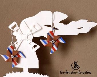 Earrings: windmills