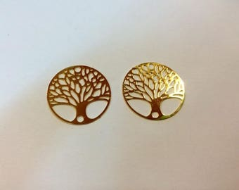 prints 10 spacer tree of life 20mm gold plated jewelry headband