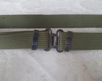 Vintage military belt, Adjustable belt,Green army belt,Soldier's belt,Army belt, Canvas belt army,Thick textile belt, Аrmy style, Accessory