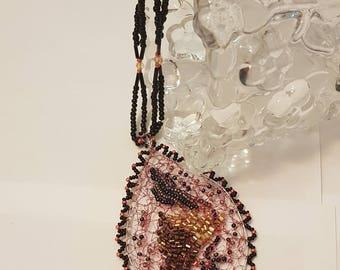 Handmade Crochet Wire Necklace Pendant