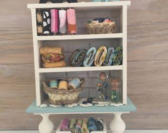 Miniature Sewing Storage Shelf