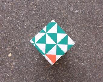 Small box green triangles.