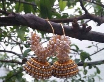 Golden yellow earrings