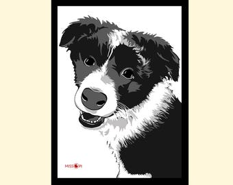 Mother's Day Gift, Pet Portrait, Custom Pet Portrait, Digital Print, Animal Print, Pet Art, Art, Cat Art, Dog Print, Artwork, Digital Art