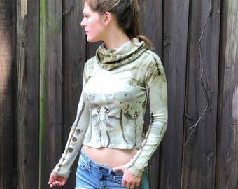Ecoprint Wool Turtleneck Sweater