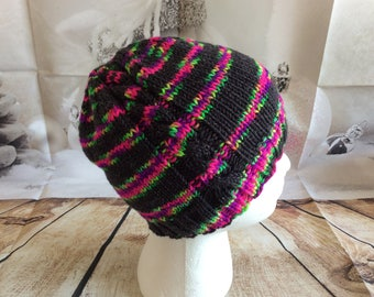 Merino Hard Candy Cabled Hat with Sparkle ( youth/adult)