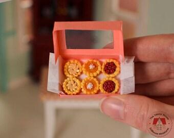 Miniature Mini Pies - Apple, Cherry & Pumpkin Tarts, Miniature Tarts, Miniature Holiday Pies, Dollhouse Mini Pies